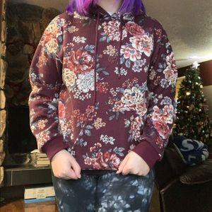 Super cute floral hoodie
